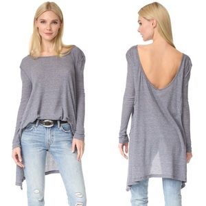 Free People Waffle Knit Long Sleeve Thermal Tunic
